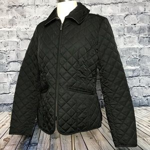 Tommy Hilfiger Quilted Black Jacket Zip Up